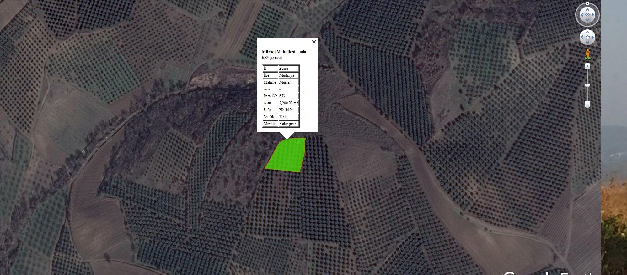 Mudanya Mürsel de İmar Bitişiği Satılık 2 200 m2 Yatırımlık Arazi.