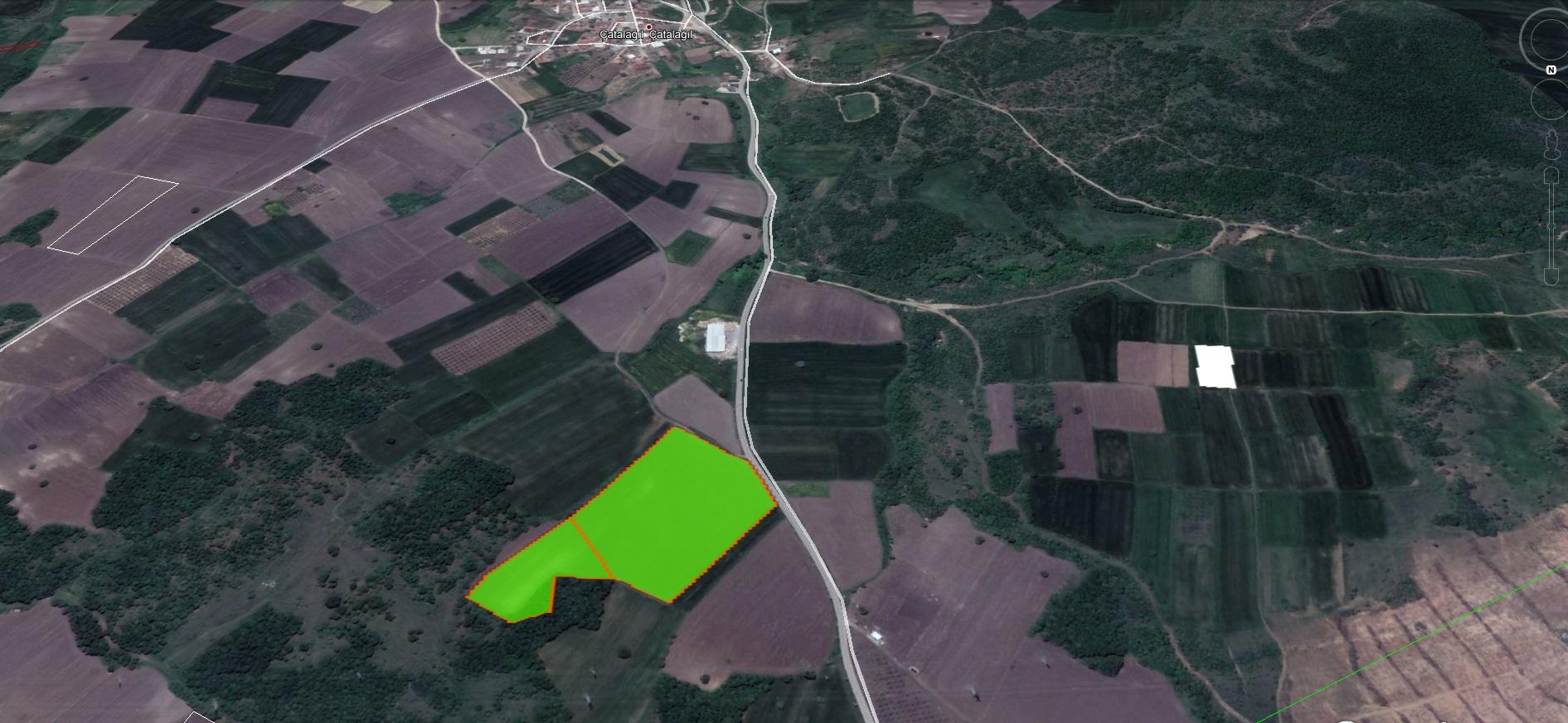 Nilüfer Çatalağıl'da Asfalta Cephe Satılık 41 Dönüm Kıymetli Arazi.